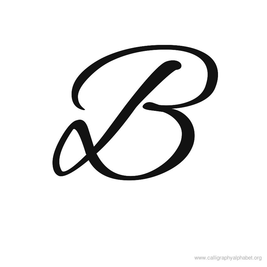 Old English Letter B Choice Image Reference Template Word
